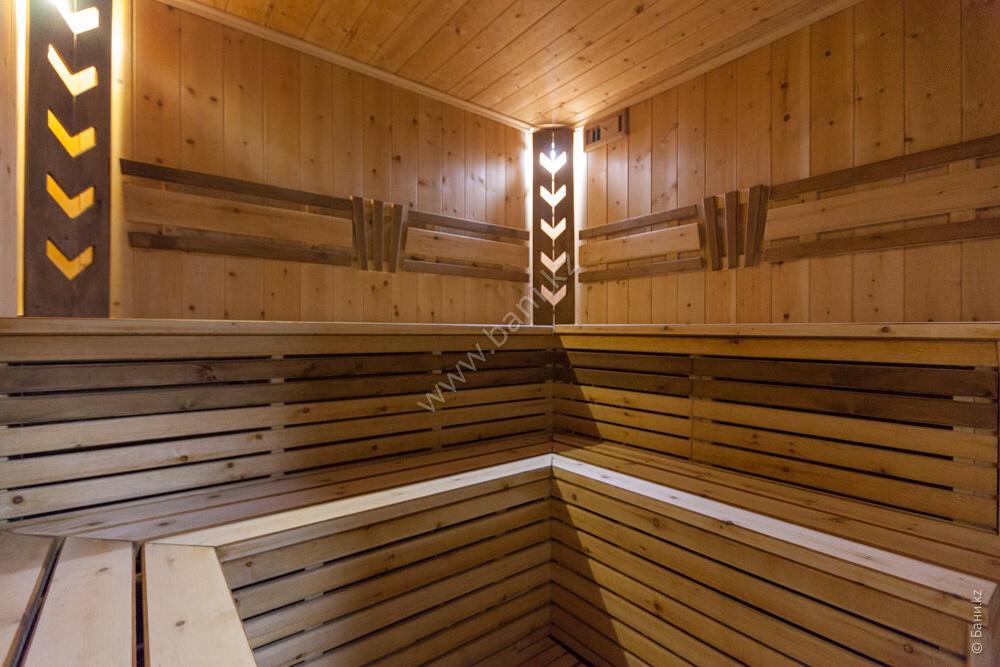 Баня «Светлая» в комплексе «VIP-сауна Альпийская» – Фото сауны «Темная» – фото 6